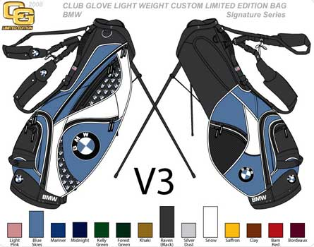 custom color golf stand bag